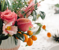 Coral and orange flowers