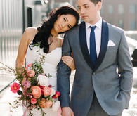 Modern wedding portrait