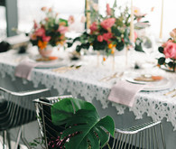 Tropical tablescape