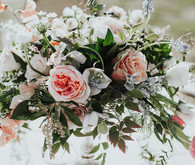 Dramatic wedding florals