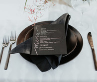 Black place setting