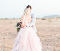 Mia Solano pink wedding dress
