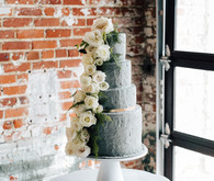 Industrial inspired wedding cake