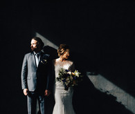 moody wedding portrait