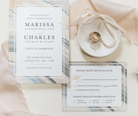 Romantic wedding invitations