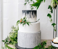 Gray wedding cake
