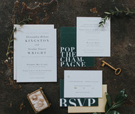 Modern wedding invites