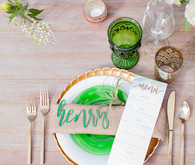 Laser cut place setting