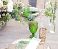 Green place setting