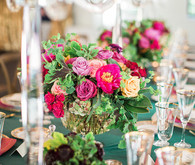 Jewel toned florals
