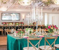 Emerald tablescape