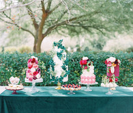 Jewel toned wedding cakes