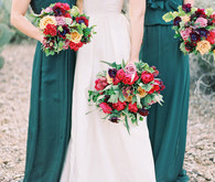 Emerald bridesmaids