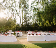 Ranch wedding reception