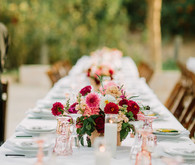 Ranch wedding tablescape
