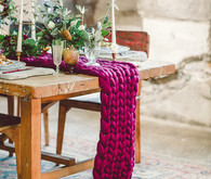 Yarn table runner