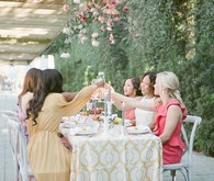 Colorful Summer bridal shower luncheon