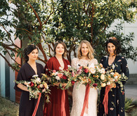 Reformation bridesmaids dresses