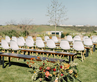 Summer wedding ceremony