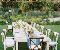 Summer wedding tablescape