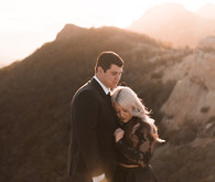 Sunset engagement portrait