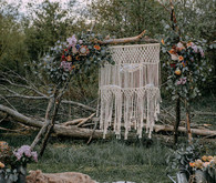 Macrame ceremony backdrop