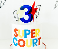 Modern super hero 3rd birthday party