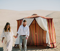 Nomadic desert caravan wedding inspiration