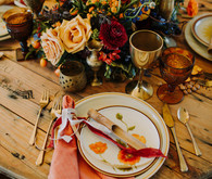 Moroccan inspired place setting