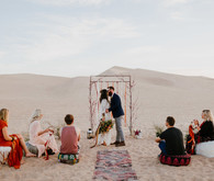 Desert wedding ceremony