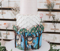 Girly where the wild things are cake
