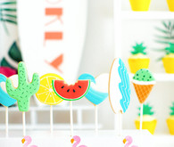 Modern tropical baby shower ideas