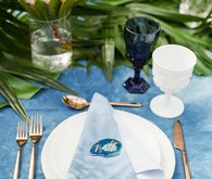 Indigo place setting