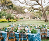 Indigo dyed tablescape