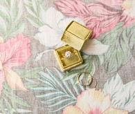 Gold ring box