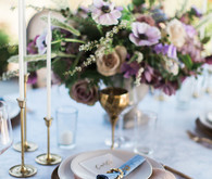 Pink and blue place setting