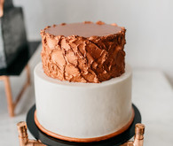Copper wedding cake