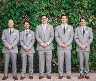 Gray groomsmen suits