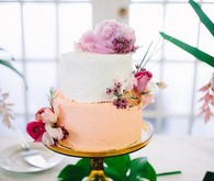 Orange flavored wedding cake
