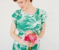 Tropical bridesmaid dress