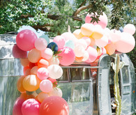 airstream trailer with balloons