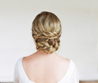 DIY bridal hairstyle