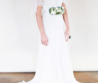 DIY floral bridal belt