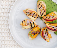 grilled peach crostini