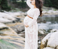 Seaside family maternity photos