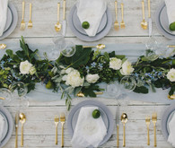 Gray place settings