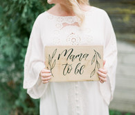 Pretty, rustic baby shower