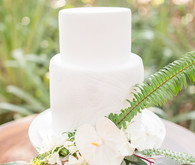 Tropical white wedding cake