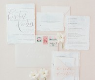 romantic blush wedding invitations