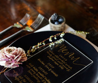 calligraphy menu ideas